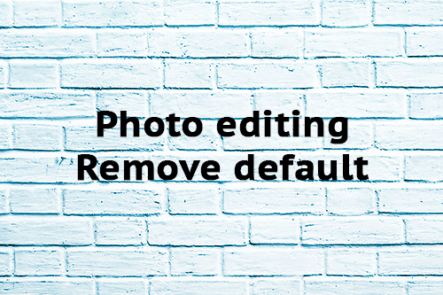 Photo editing Remove default