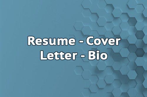 Resume Cover letter Bio