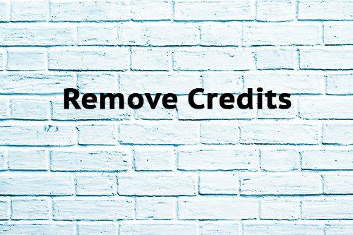 Remove Credits