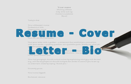 Resume - Cover Letter - Linkedin Bio