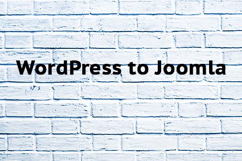 WordPress to Joomla