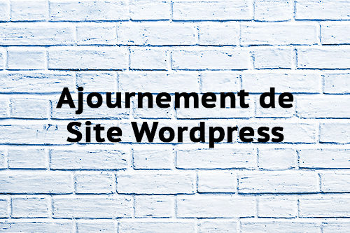 Ajournement de Site Wordpress