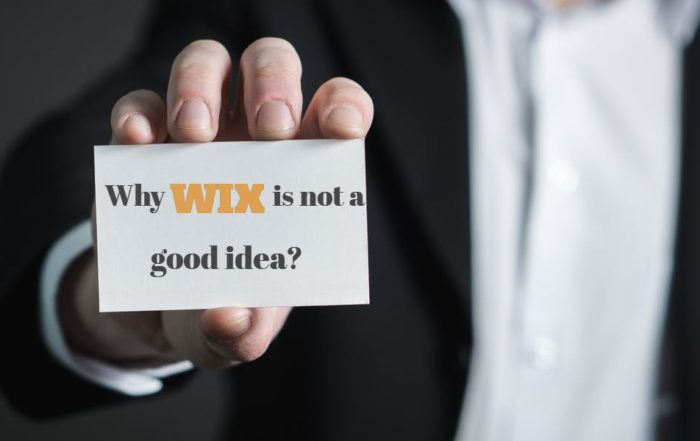Why WIX is not a good idea?
